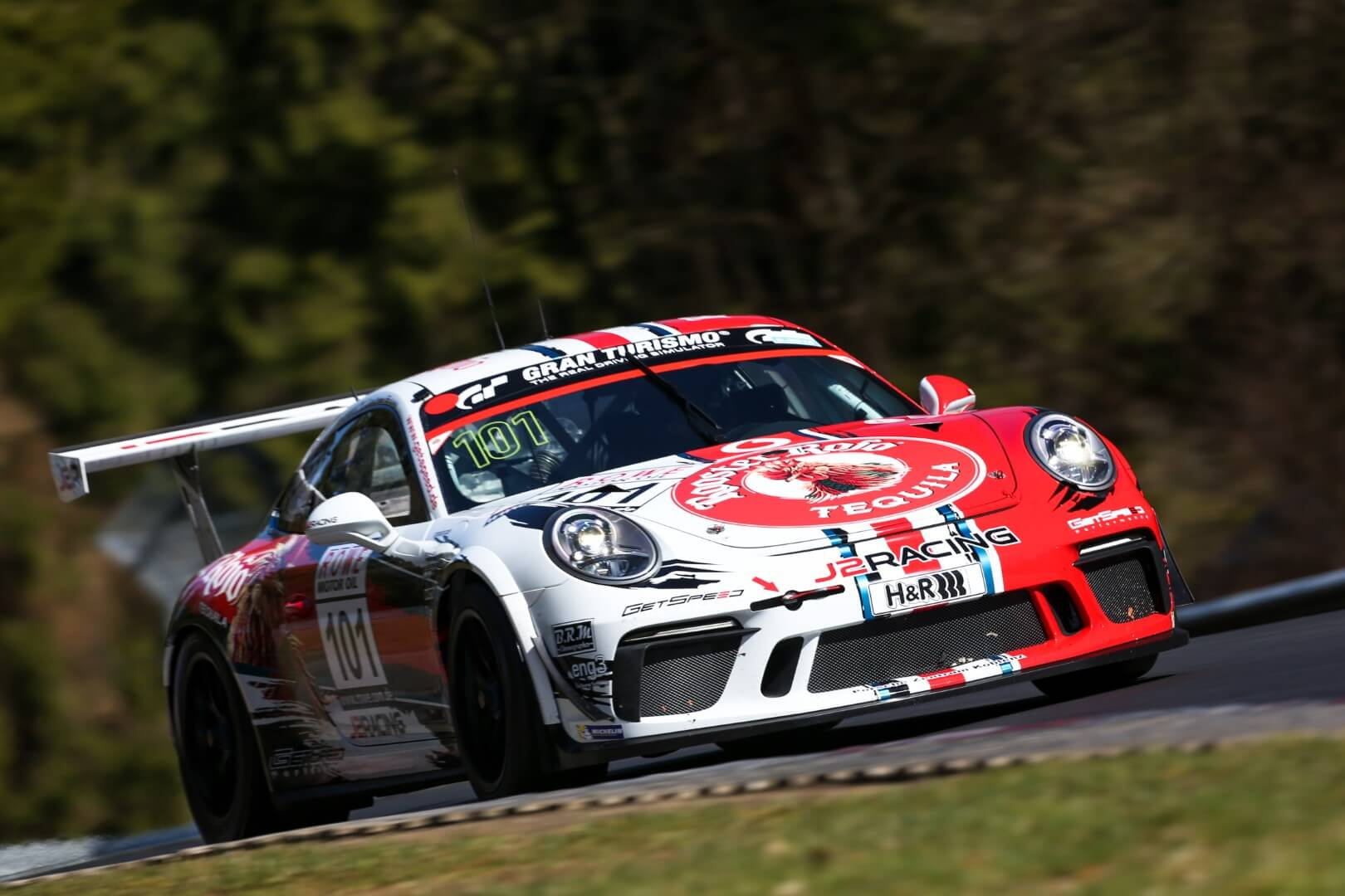 VLN 1. Lauf 2018, Nürburgring-Nordschleife - Foto: Gruppe C Photography; #101 Porsche 911 GT3 Cup, GIGASPEED Team GetSpeed Performance: John Shoffner, Janine Hill, Arno Klasen