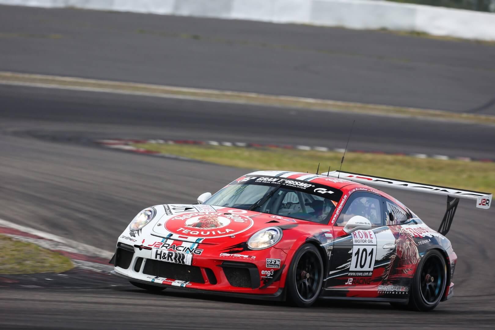 VLN 4. Lauf 2018, Nürburgring-Nordschleife - Foto: Gruppe C Photography; #101 Porsche 911 GT3 Cup, GIGASPEED Team GetSpeed Performance: John Shoffner, Janine Hill, Arno Klasen