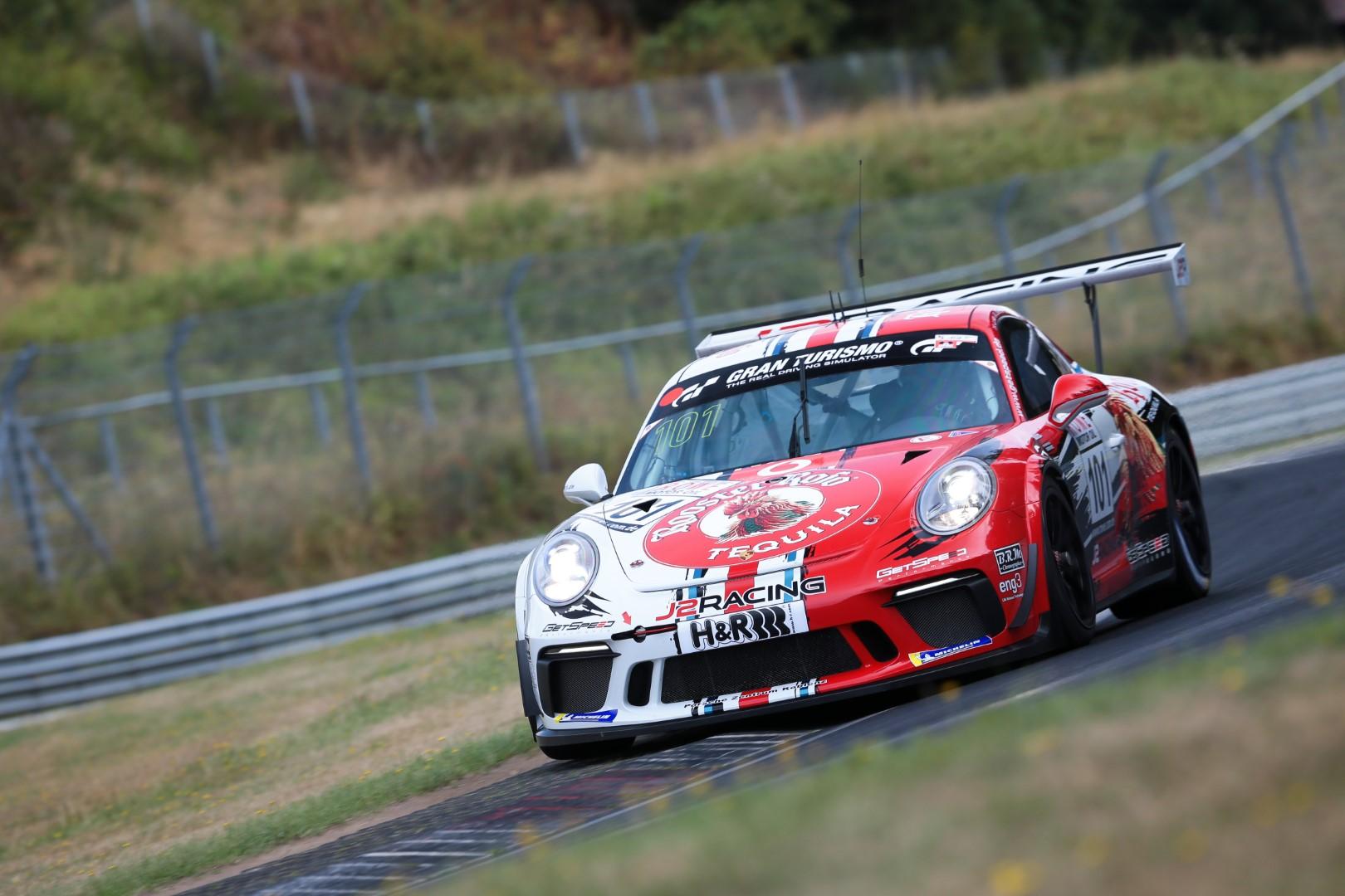 VLN 6. Lauf 2018, Nürburgring-Nordschleife - Foto: Gruppe C Photography; #101 Porsche 911 GT3 Cup, GIGASPEED Team GetSpeed Performance: John Shoffner, Janine Hill, Arno Klasen