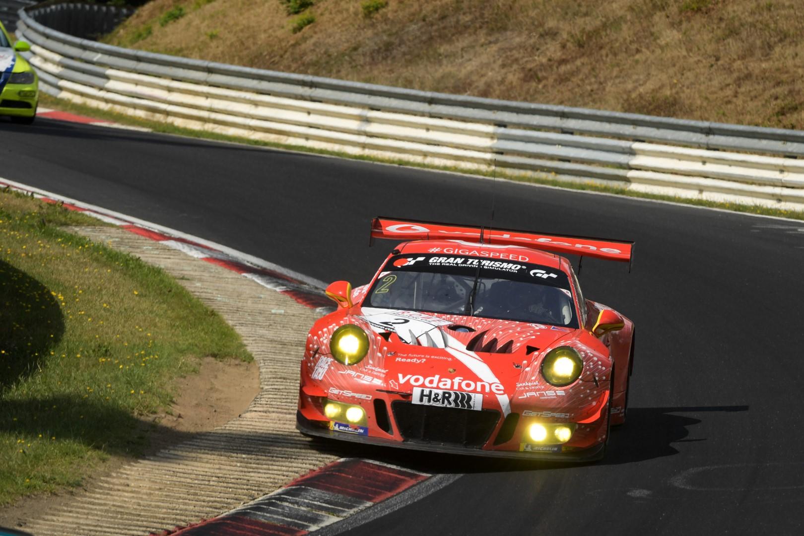 VLN 6. Lauf 2018, Nürburgring-Nordschleife - Foto: Gruppe C Photography; #002 Porsche 911 GT3 R, Team GetSpeed Performance: Steve Jans, Marek Böckmann, Philip Hamprecht, Adam Osieka