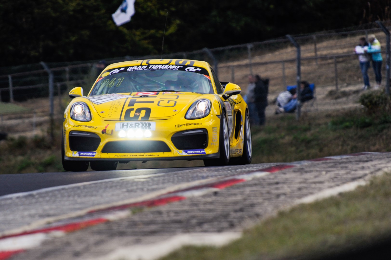 VLN 7. Lauf 2018, Nürburgring-Nordschleife - Foto: Gruppe C Photography; #941 Porsche Cayman GT4 CS, Getspeed Performance: Carrie Schreiner, Daniel Mursch